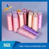 Сырцовым/цветастым Textured пряжа девственницы резьбы вышивки закрученная полиэфиром 100%