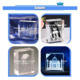 Portretten van het Kristal van het Glas van de Laser van de hoge snelheid 3D binnen de Prijs van de Machine van de Machine van de Gravure