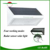 10 metros de detección de radar Iluminación Solar lámpara de pared de la seguridad inalámbrica al aire libre