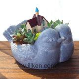 庭または屋外の/Flowerの鍋または肉のプラント鍋またはプラスターおよびセメントの植木鉢