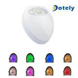 8 lumières changeant la lumière tarifée de salle de toilette de toilette de détecteur pour des gosses