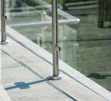 Barandillas al aire libre del aluminio del vidrio Tempered del diseño del estilo de Amercian