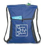 Mode moins cher le plus récent 210D polyester sac à dos Sac avec lacet de serrage