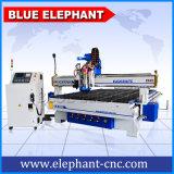Blaue Schaumgummi-Gummi-Dichtung-oszillierende Messer-lederner Streifen-Ausschnitt-Maschine Elefant CNC2030 CNC-3D mit Fabrik-Preis für Karton