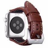 型Appleのためのイタリア様式の本革の時計バンド