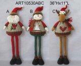 Santa restante, décoration de Noël de renne de bonhomme de neige
