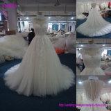 Мантия 160611 Tulle реальной втулки изготовления платья венчания образца длинней Bridal