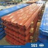 Hojas del material para techos del color para los chalets de acero