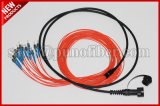 12 de 7.0mm MPO a FC monomodo Breakout impermeable Kits de cable óptico