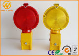Indicatore luminoso d'avvertimento ambrato della singola batteria LED di sicurezza di traffico stradale