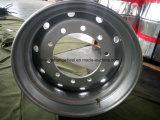Колесо тяжелой тележки поставкы 22.5X11.75 фабрики безламповое, стальная спица колеса тележки, безламповое стальное колесо тележки