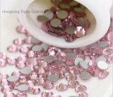 Bergkristal 5mm van het Glas van het kristal nam Kristallen Hotfix van Flatback van de Bergkristallen van de Moeilijke situatie van de Spijker vlak terug toe de niet Hete niet (fB-Ss20/5mm 3A)