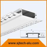 Vertieftes Aluminiumprofil mit langem Flansch für Trockenmauer oder Decke Using