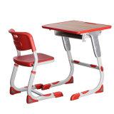 Cadeira e mesa ajustáveis da mobília da sala de aula da escola secundária