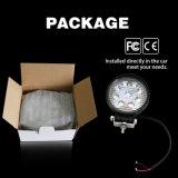Venta caliente 6500K IP67 12V 24V Ronda carretilla 27W luz LED de trabajo