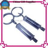 Metallo libero Twrist Keychain in bianco della carica di impostazione