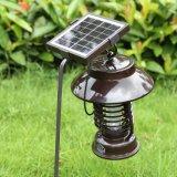 L'intérieur en acier inoxydable étanche moustique solaire Killer lampe avec fonction d'éclairage