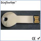 둥근 맨 위 금속 키 모양 USB 드라이브 (XH-USB-054R)