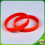 Populärer Deboosed kundenspezifischer Firmenzeichen-SilikonWristband