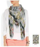 Rosas bonitas para o lenço da seda das mulheres 100%