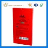 Kundenspezifische silberne Pappgesichtsschablonen-verpackenkasten