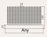 幅および高さのための出版物のひれのタイプのアルミニウム脱熱器