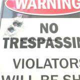 Aucuns signaux d'alarme extérieurs en aluminium de infraction de plaque