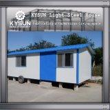Estructura de acero prefabricada que construye la casa modular para los dormitorios
