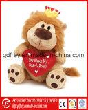 Cadeau du jour de Valentine de jouet mou de lion
