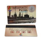 Cartão plástico do PVC da impressão feita sob encomenda com listra magnética
