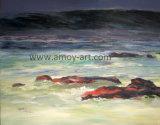 Seascape artesanais de alta qualidade chinesa Galpão de pintura a óleo para Decoração de parede