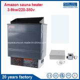 Calentador eléctrico de la sauna del Amazonas 3-9kw con la aprobación del Ce