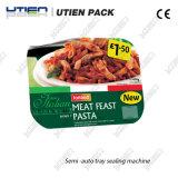 Макаронные изделия Spagratti упаковывая, машина немедленной еды быстрые уплотнителя подноса