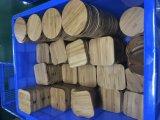 Uiterst dun Natuurlijk Bamboe die Qi Draadloze Lader laden voor Telefoon