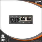 Conversor 1X 100Base-FX dos media testados de Banchmark ao SC de 2X 10/100Base UTP 1310nm 2km