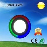 시그마 주거 둥근 정연한 호리호리한 중단된 표면에 의하여 거치되는 9W 12W 15W 18W 24W 30W 천장 램프 LED 위원회 전구