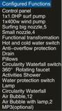 De nieuwe 1700mm Jacuzzi van de Rechthoek met LEIDENE Waterval en het Kussen van de Massage (bij-6009-2)