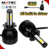 Auto bulbos 80W do farol do diodo emissor de luz do carro de C6 G20, 40W G20 H1 H11 9007 9005 9006 5202 bulbos H11 do farol do diodo emissor de luz de H7 H4