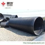 PE hueco del tubo de HDPE de gran diámetro de bobinado de la pared del tubo de PE