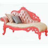 居間Furntiure (92F)のための革ソファーのラウンジ