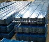 Placa de aço corrugada/trapezoidalmente/vitrificada da alta qualidade de PPGI/PPGL de telhadura