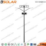 Certificado CE de 60 W de doble lámpara de luz solar calle
