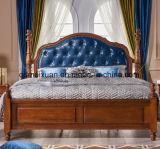 Amerikanische doppelte europäische Tür des vollständig realen hölzernen Betts (M-X3784)