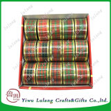 Venda quente 3,8mm Red Plaid Natal Fita Scotish com fios de fita