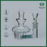 11 Zoll Türkis-Glasrecycler-Rohr-Schweizer Pfosten Perc Glas-Rohr-