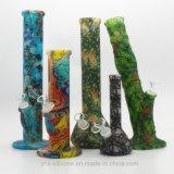 Ventas Top-Rate vaso caliente de fumar pipa de agua en la FDA o silicona de platino con Graffiti Imprimir