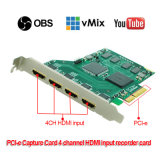 PCI-E4h карты захвата видео HDMI 1080p/60 Xsplit Vmix HDMI / / / Vlc Virtualdub / Vidblaster / Obs Live Streaming Игровое видео рекордер и видеомикшер карты