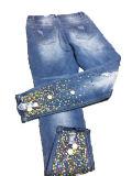 Venda a quente Fashion Imprimir mulheres/Senhoras Skinny Jeans Denim
