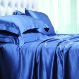 2018 Nuevo 100% de los conjuntos de ropa de cama de seda de lujo Mulberry Sábana de seda