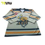 Sublimación impresión camisetas Camiseta de Hockey sobre Hielo deporte el desgaste